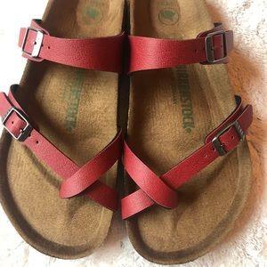 Birkenstock Mayari Red Sandals Size 8